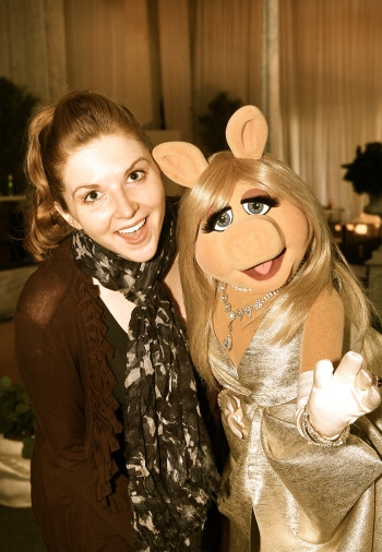 Hilary and Miss Piggy 1