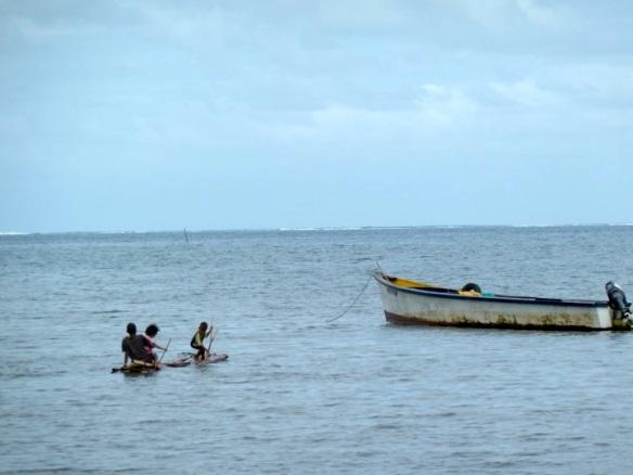 Village Children On Raft