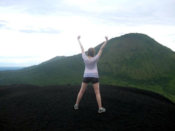 Hilary on Volcano