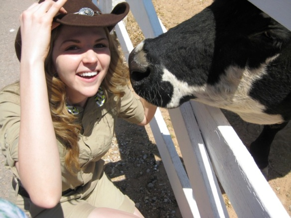 Hilary and cow