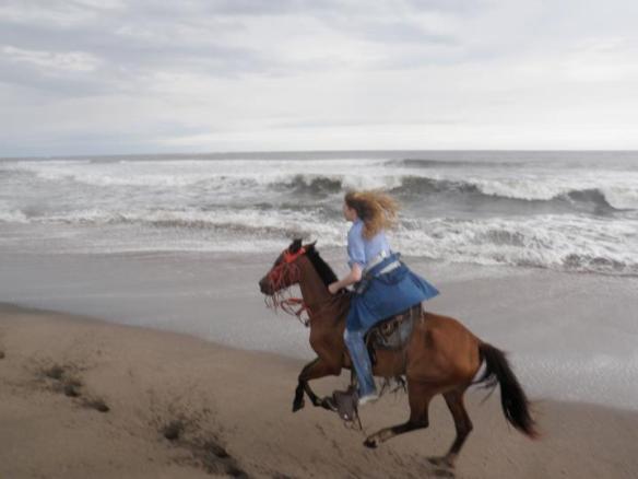 Hilary galloping